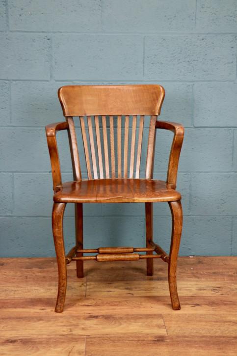 Antiker britischer Eichen Stuhl ca 1930