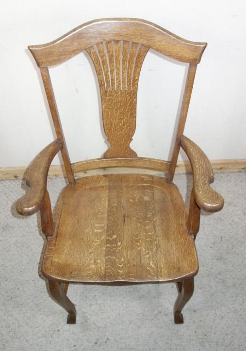 Antiker britischer Stuhl Eiche ca 1910