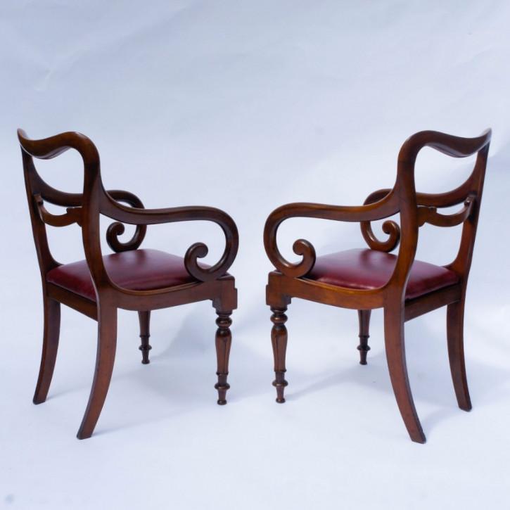 Antike britische Mahagoni Stühle ca 1840