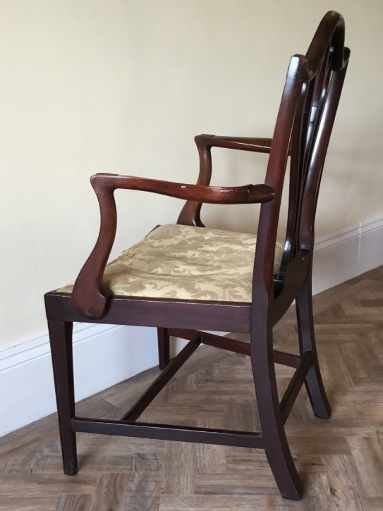 Antiker britischer Mahagoni Stuhl Chippendale edwardianisch ca 1890