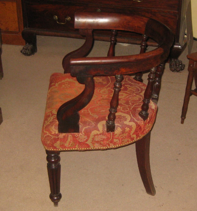Antiker britischer Mahagoni Stuhl Regency ca 1850