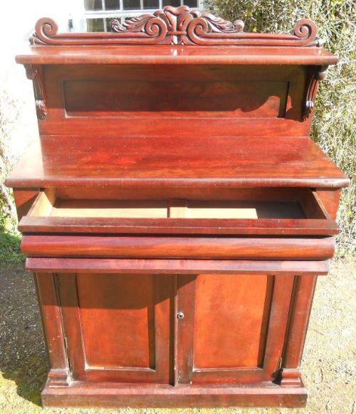 Viktorianisches antikes Mahagoni Sideboard Chiffonnier englisch ca 1850