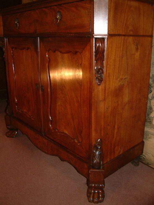 Antikes britisches Mahagoni Sideboard ca 19. Jh