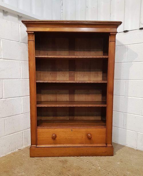 Viktorianisches antikes Bücherregal Esche englisch ca 1880