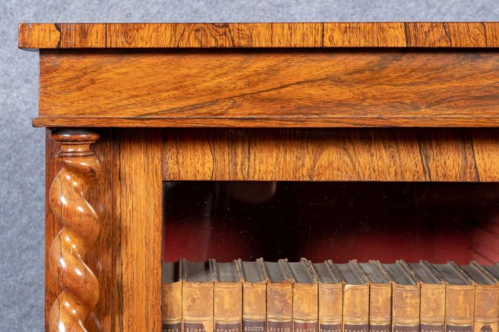 Antikes viktorianisches Bücherregal Palisander ca 1850