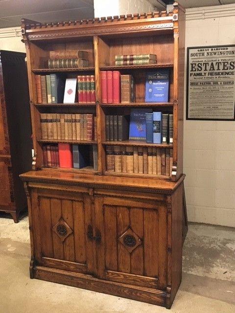 Antiker viktorianischer Bücherschrank Esche britisch ca 1880