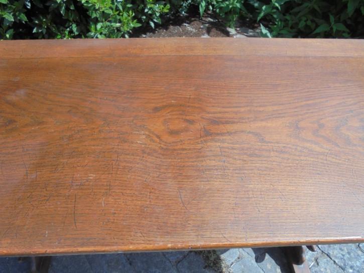 Britischer antiker Massivholz Esstisch Eiche ca 1910