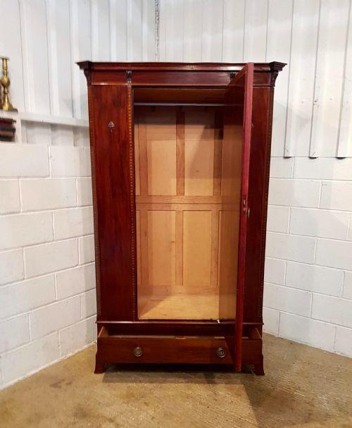 Edwardianischer antiker Mahagoni Kleiderschrank englisch ca 1900