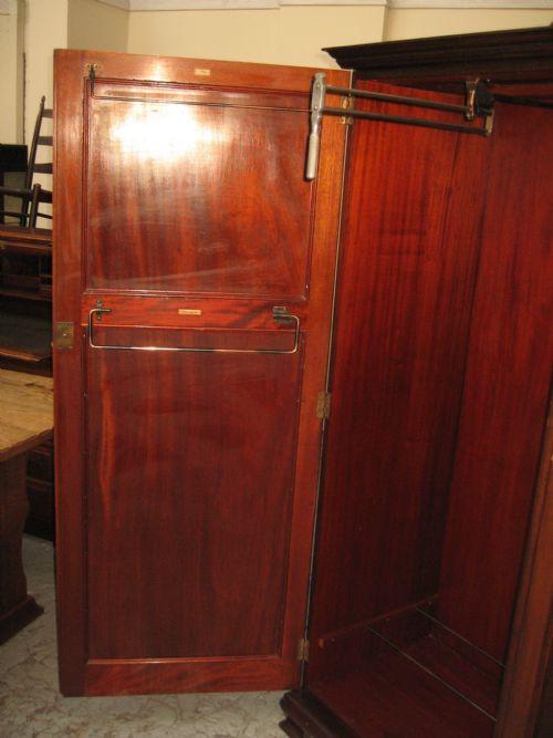 Edwardianischer antiker Mahagoni Kleiderschrank englisch ca 1920