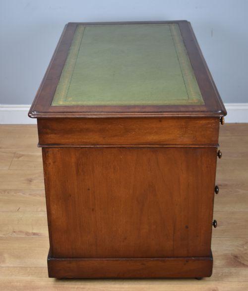 Viktorianischer antiker Mahagoni Schreibtisch englisch ca 1880