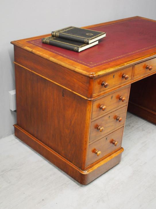 Antiker Mahagoni Schreibtisch viktorianisch englisch ca 1860
