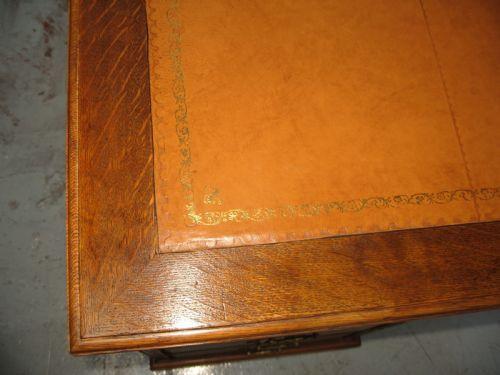Antiker britischer Eichen Schreibtisch ca 1910