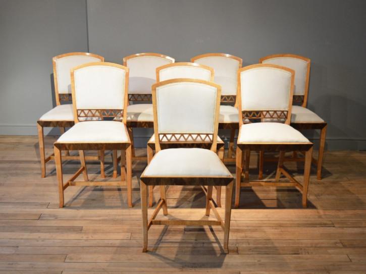 Art Deco Antiker Esstisch mit Stühlen englisch ca. 1930