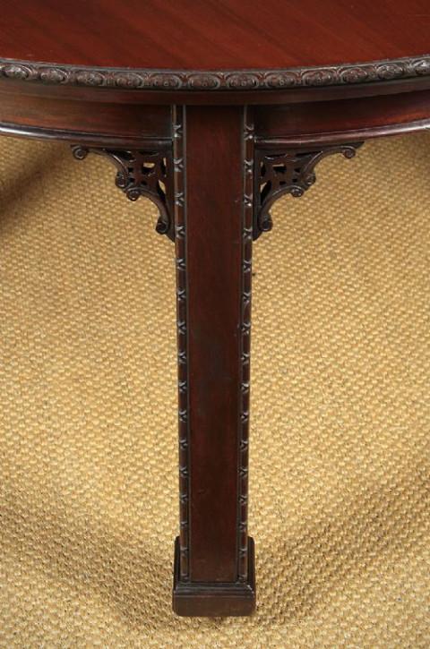 Chinesischer Antiker Mahagoni Esstisch im Chippendale Stil ca. 1920