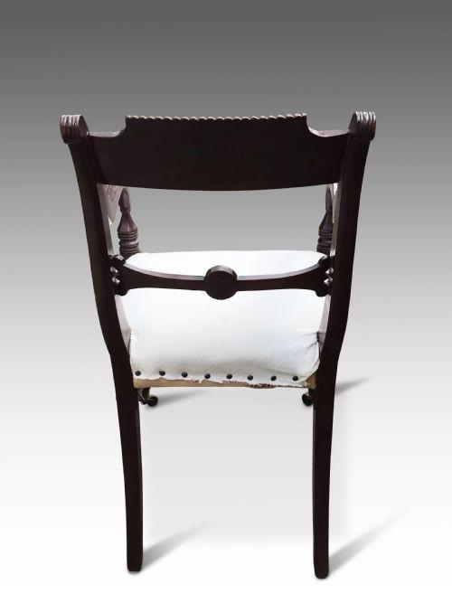 Edwardianischer antiker Mahagoni Stuhl britisch ca 1890