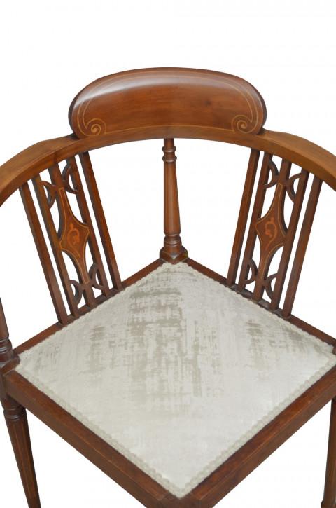 Edwardianischer antiker Mahagoni Stuhl britisch ca 1900