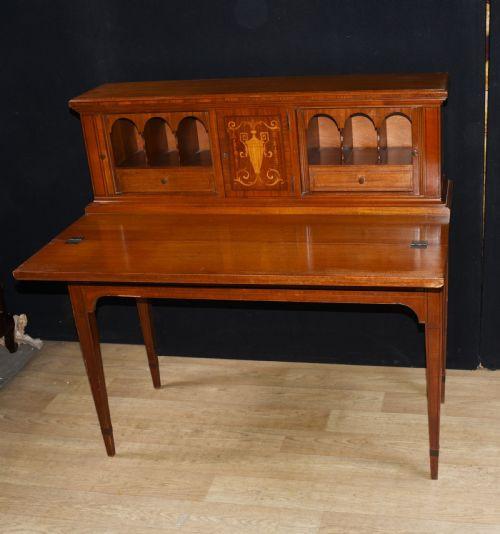 Edwardianischer antiker Schreibtisch Mahagoni britisch ca 1910