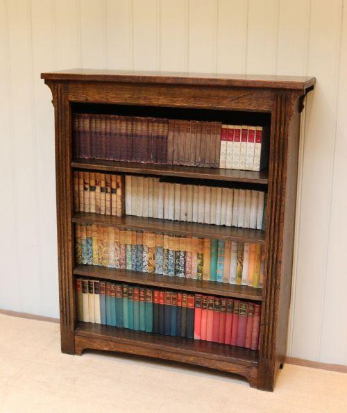 Antiker britischer Eichen Bücherschrank ca 1910