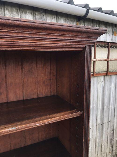 Viktorianischer antiker Bücherschrank Eiche englisch ca 1860