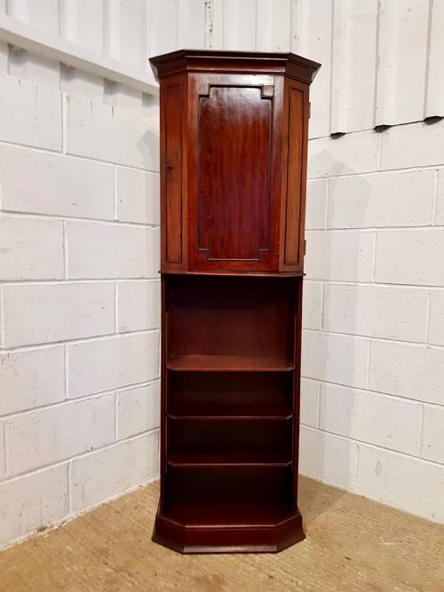 Edwardianischer antiker Mahagoni Bücherschrank englisch ca 1900