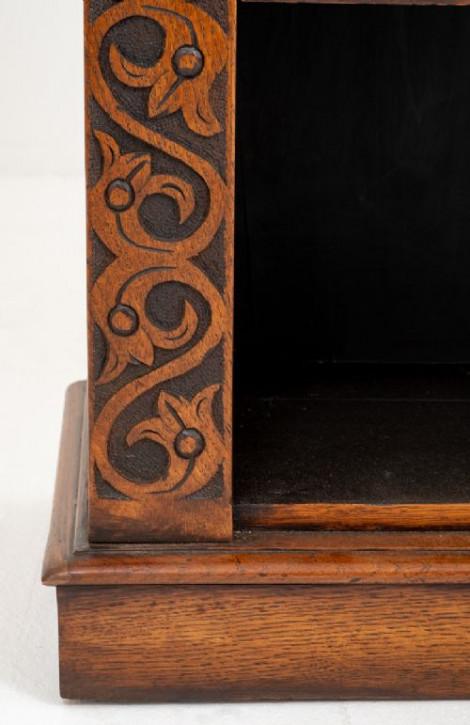 Viktorianischer antiker Eichen Bücherschrank englisch ca 1860