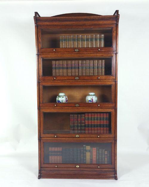 Edwardianischer antiker Eichen Bücherschrank englisch ca 1910