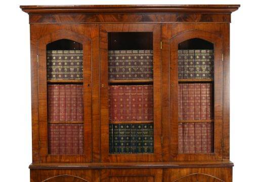 Georgianischer antiker Mahagoni Bücherschrank britisch ca 1820