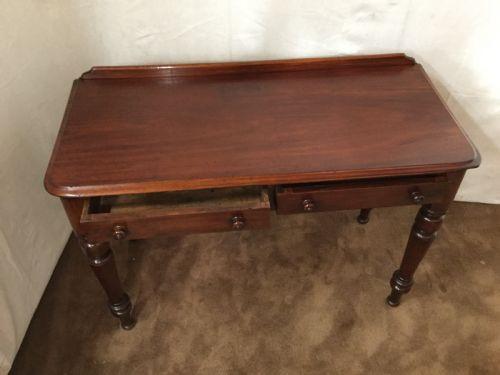 Viktorianischer britisch Mahagoni Schreibtisch antik ca 1880