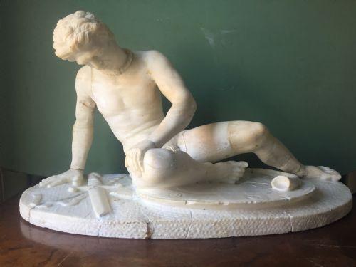 """Italienische Antike geschnitzte Alabaster """"Grand Tour"""" Souvenir-Skulptur ca. 1870"""