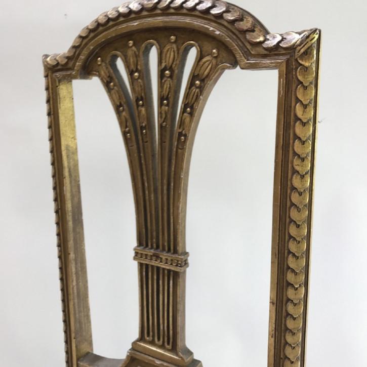 Französischer Antiker vergoldeter Stuhl ca. 1890