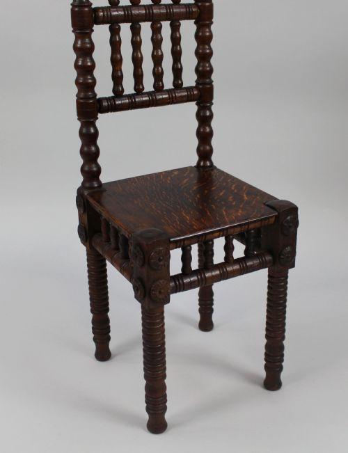 Viktorianischer antiker Eichen Stuhl britisch ca 1880