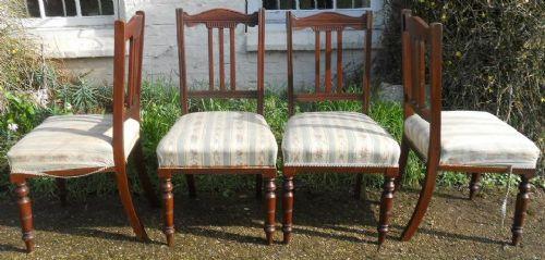 Edwardianische antike Mahagoni Stühle britisch ca 1900