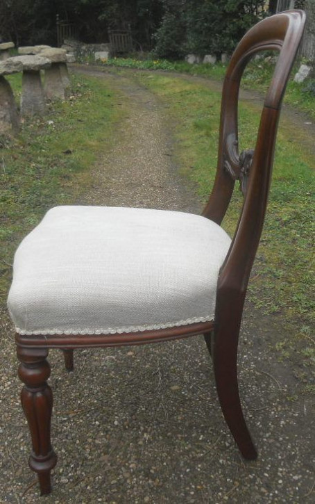 Viktorianische antike Mahagoni Stühle britisch ca 1850
