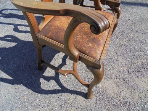 Antike britische Nussbaum Stühle ca 1900