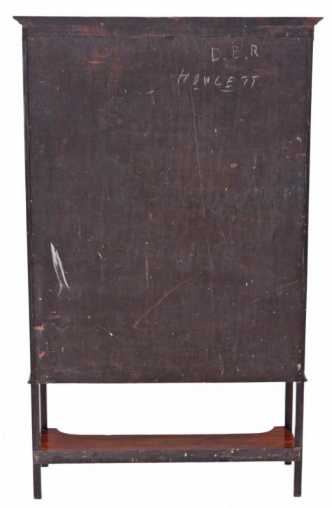 Edwardianische antike Mahagoni Vitrine englisch ca 1890