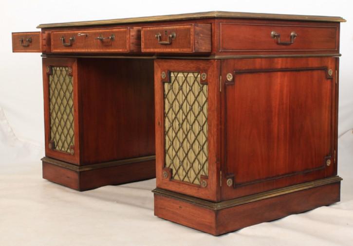 Antiker Mahagoni Schreibtisch Partners Desk britisch ca 1920