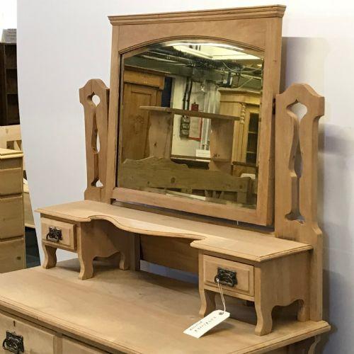 Edwardianisches antikes Nussbaum Sideboard Mirrorback britisch ca 1890