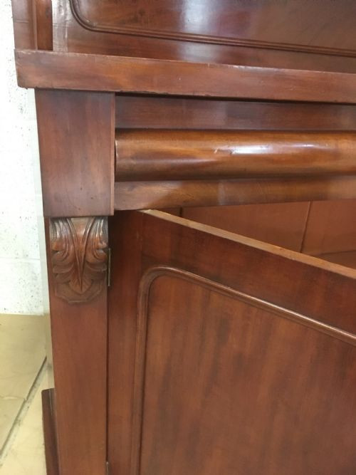 Viktorianisches Mahagoni Sideboard Chiffonier antik ca 1860