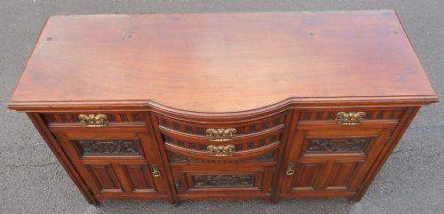 Edwardianisches antikes Mahagoni Sideboard englisch ca 1890