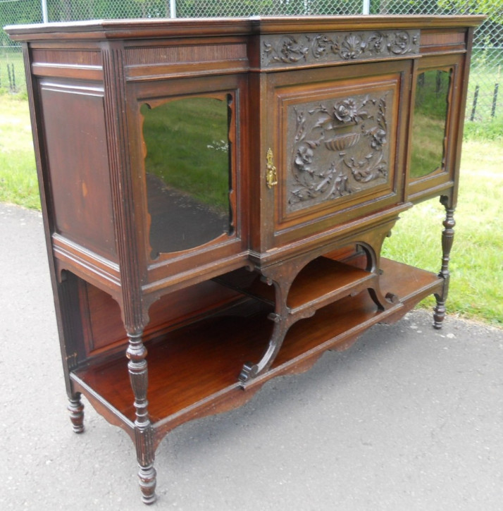 Edwardianisches antikes Mahagoni Chiffonier Sideboard englisch ca 1890