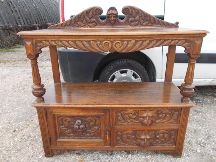 Viktorianisches antikes Eichen Buffet Sideboard britisch ca 1900