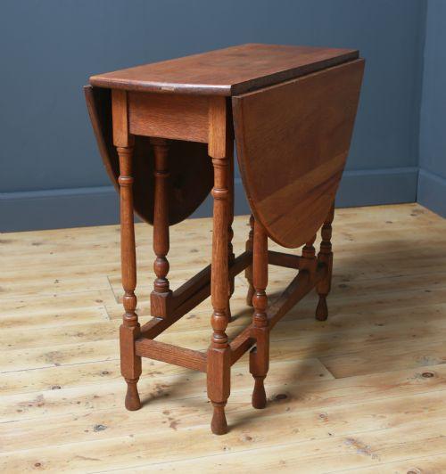 Antiker britischer Gateleg Tisch Eiche Dropleaf can 1920
