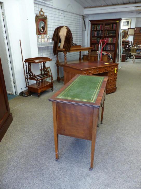 Antiker edwardianischer Mahagoni Schreibtisch britisch ca 1890