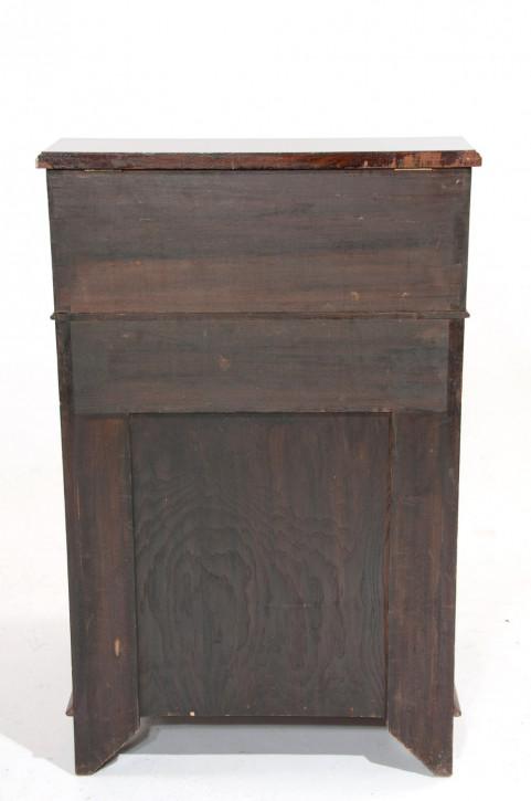 Edwardianischer Englischer Antiker Mahagoni Davenport Schreibtisch ca. 1900