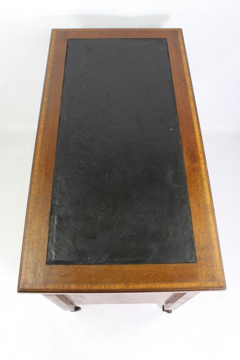 Edwardianischer Antiker Mahagoni Satinholz Schreibtisch antik ca. 1900