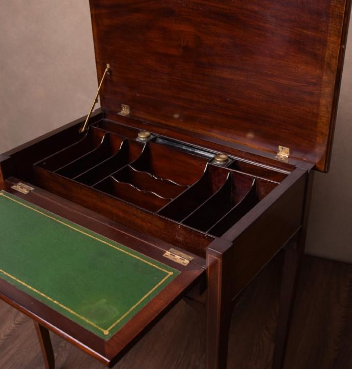 Edwardianischer Antiker Mahagoni Schreibtisch englisch ca. 1900