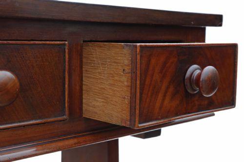 Antiker Viktorianischer Mahagoni Schreibtisch englisch ca. 1860