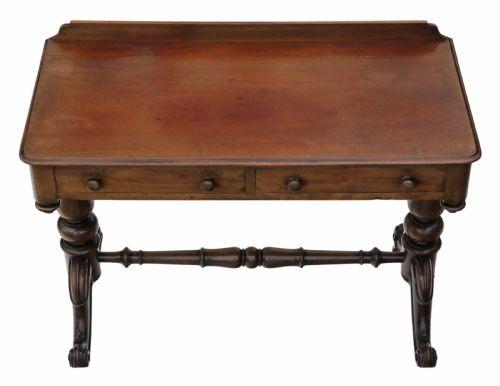 Englischer Antiker Mahagoni Schreibtisch viktoriranisch ca. 1880