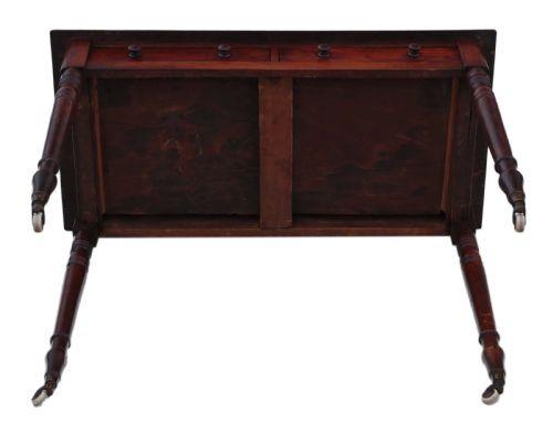 Viktorianischer Antiker Mahagoni Schreibtisch englisch ca. 1860