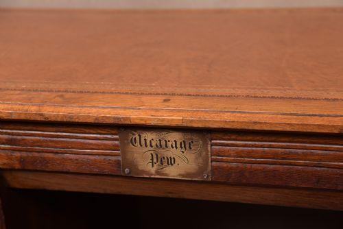 Edwardianischer AntikerEiche Schreibtisch englisch ca. 1900